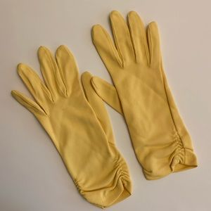 Vintage Yellow Opera Gloves